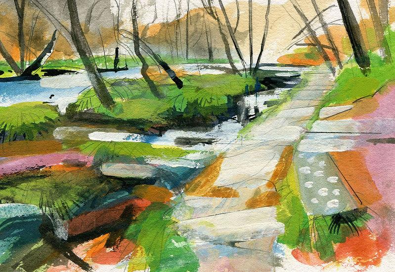 Path By the Barle, Exmoor Print
