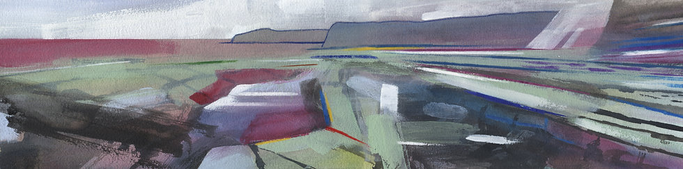 Kilve Beach 12, Original Mixed Media Painting, Somerset
