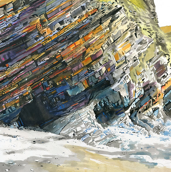 Rock Formations 8, Original Watercolour Painting