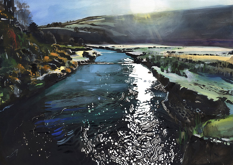 The River Barle Print (no text), Exmoor