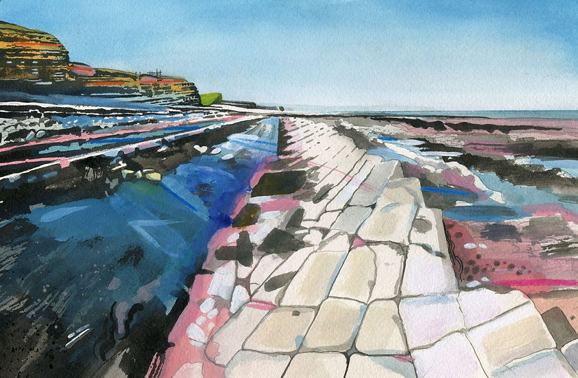 Kilve Beach 7, Original Watercolour Painting
