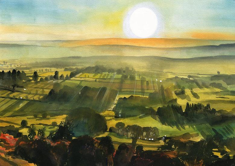 The Quantocks, Somerset,  Original Watercolour Painting