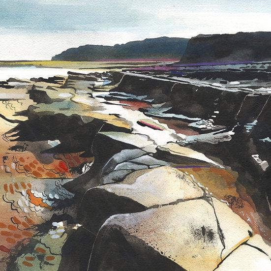 Kilve Beach 3, Somerset,  Original Watercolour Painting