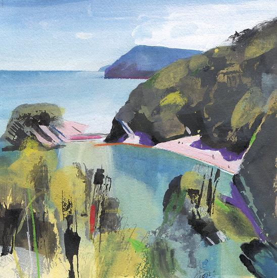 Broad Sands Beach, Norh Devon, Original Watercolour
