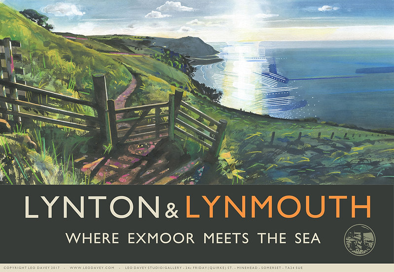 Lynton & Lynmouth, Exmoor Print