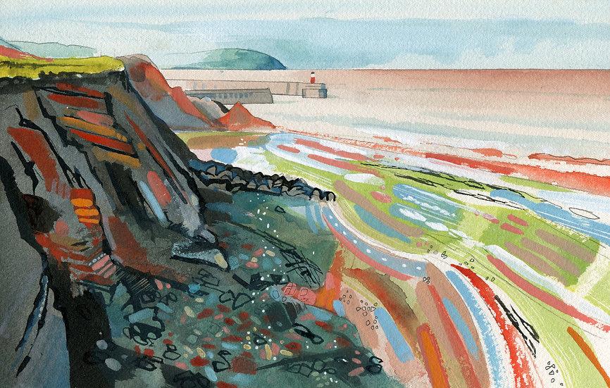 Watchet Harbour 2, Somerset, Original Watercolour Painting