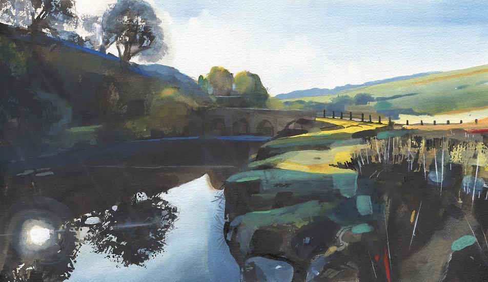 Exmoor, Landacre Bridge, Original Watercolour Painting