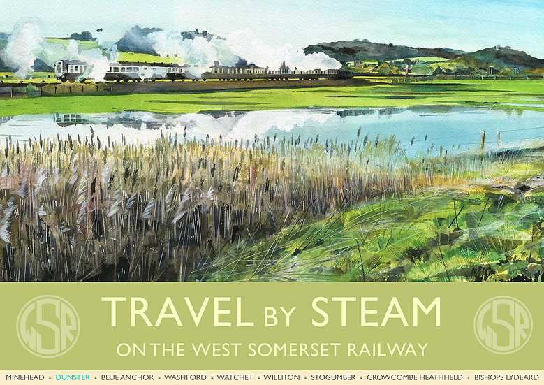 Travel By Steam 1 (8 of 12 from NEW WSR Collection) Somerset Print