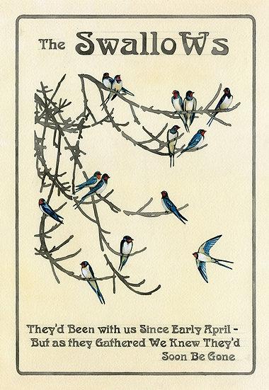 The Swallows, Bird Print