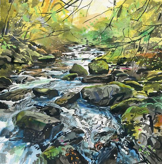 Watersmeet 2, Exmoor, Original Watercolour Painting
