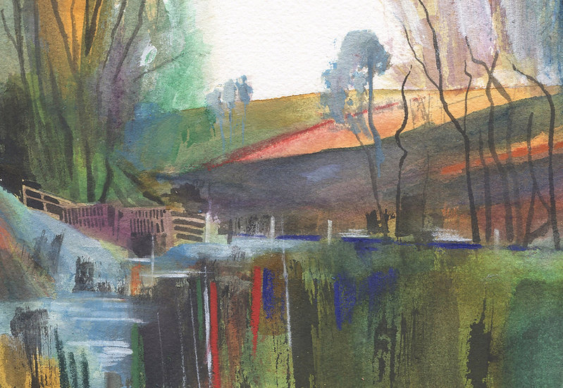 Exmoor, Autumn at Chetsford Water, Print