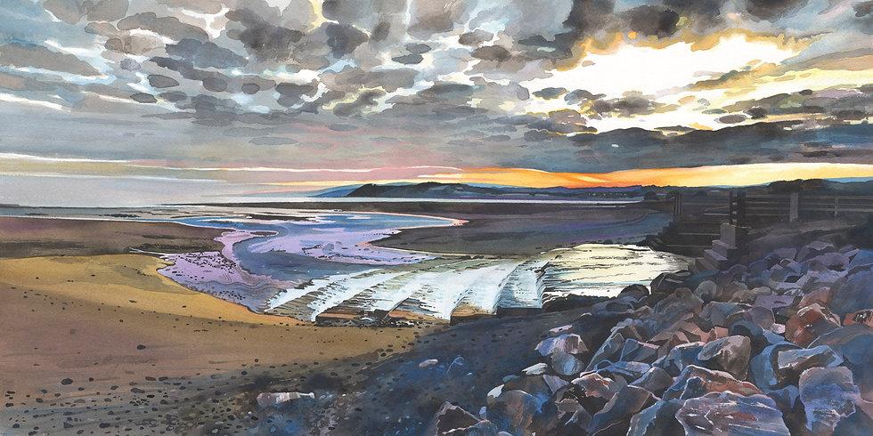 Sun Rise at Dunster Beach - Edge of Exmoor