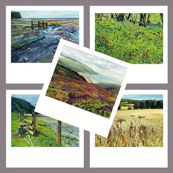 Greetings Card Pack B. West Somerset