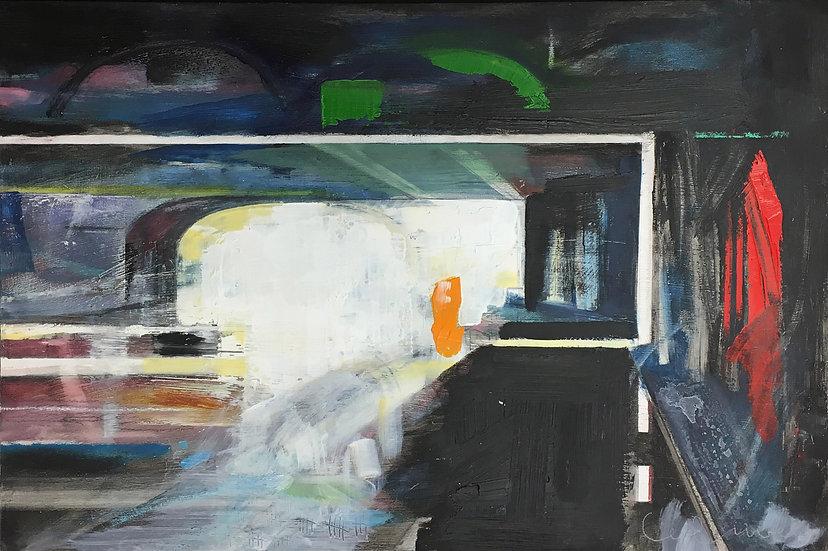 Regents Canal 3, Original Oil Painting