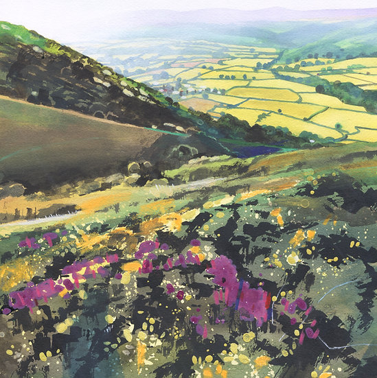 View from Bossington Hill, Exmoor Print