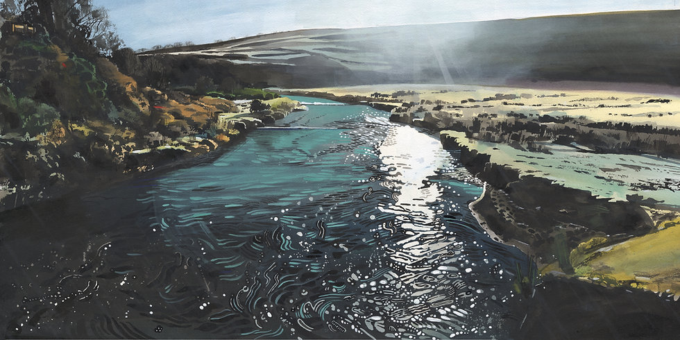 The Barle at Landacre Bridge, Exmoor Print