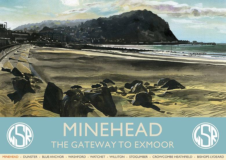 Minehead the Gateway to Exmoor, Minehead Poster, Print