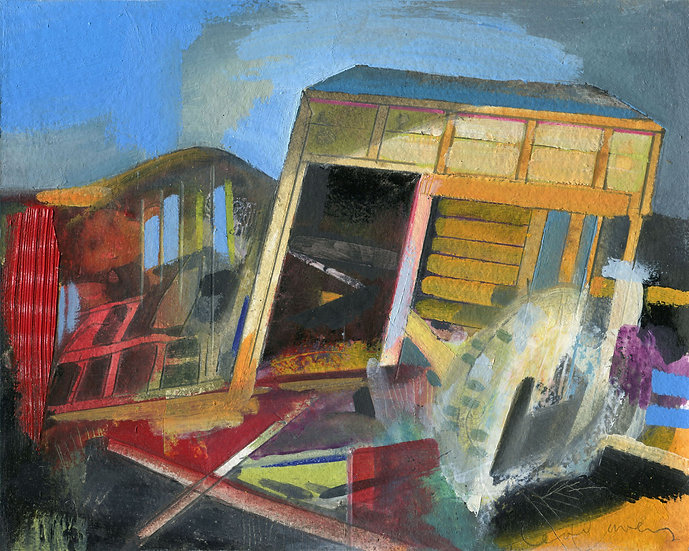 Portuguese Shed 2, Original Oil Painting