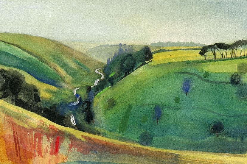 The River Barle, Near Simonsbath, Exmoor, Original Watercolour Painting