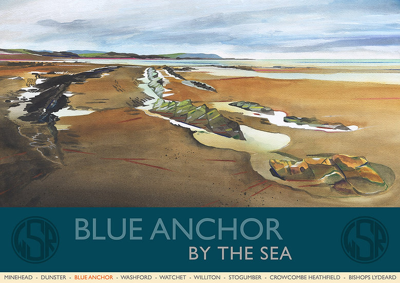 Blue Anchor (7 of 12 from NEW WSR Collection) Somerset Print