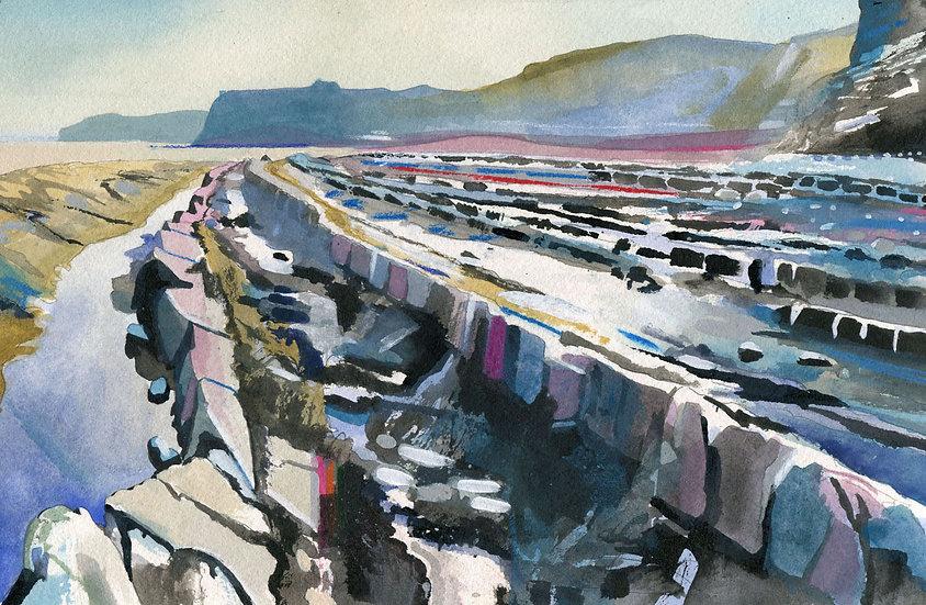 Kilve Beach 8, Somerset, Original Watercolour Painting