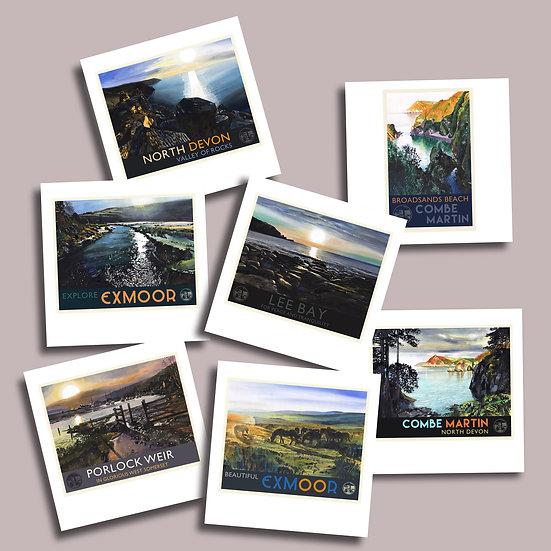Greetings Card Pack M. Exmoor + North Devon