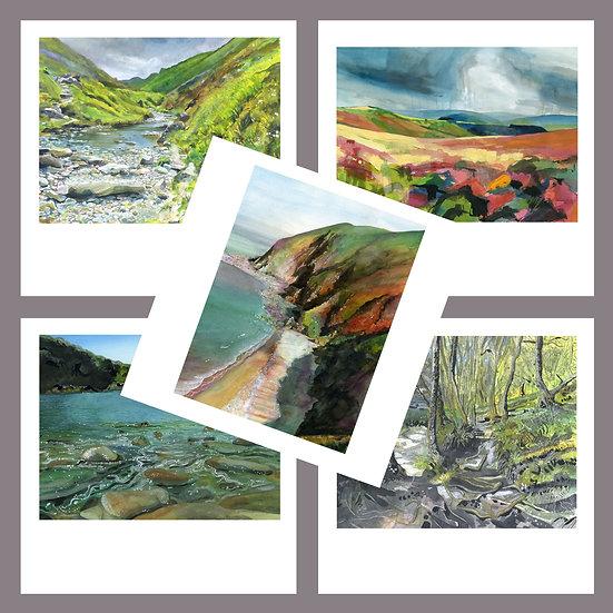 Greetings Card Pack F. North Devon + Exmoor