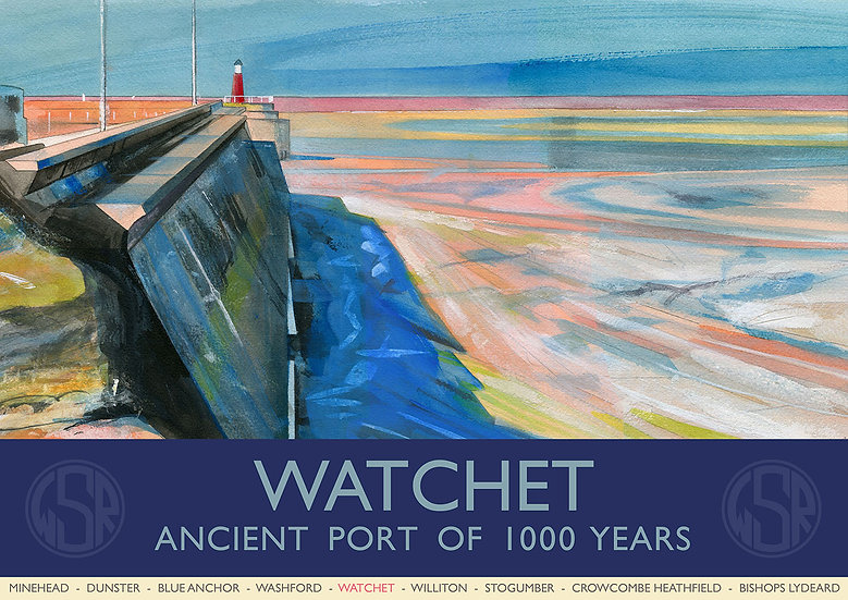 Watchet (3 of 12 from NEW WSR Collection) Somerset Print