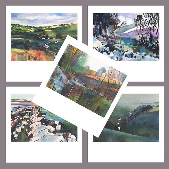 Greetings Card Pack J. Exmoor + Kilve Beach