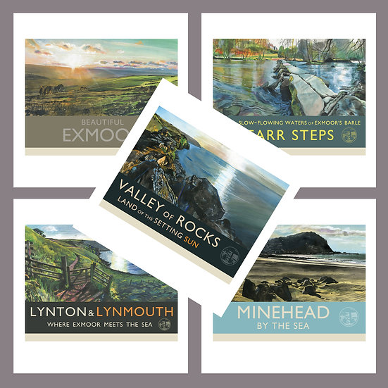 Greetings Card Pack C. North Devon + Exmoor