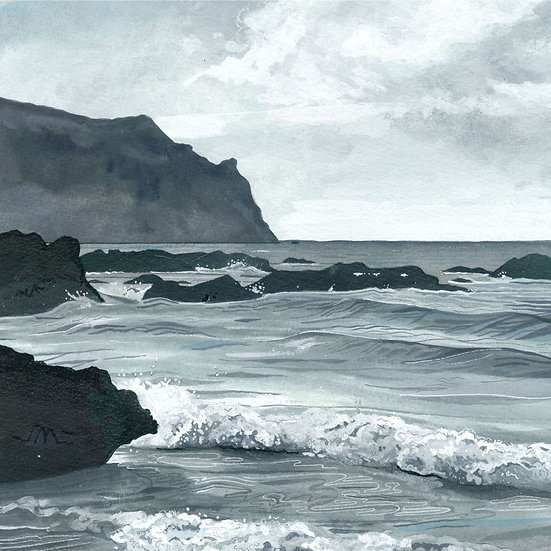 Nare Head, Cornwall. Print