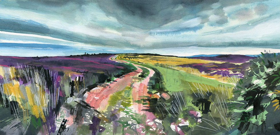 Exmoor Track 1, Original Watercolour Painting