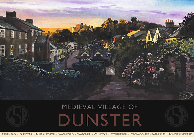 Dunster (11 of 12 from NEW WSR Collection) Exmoor Print