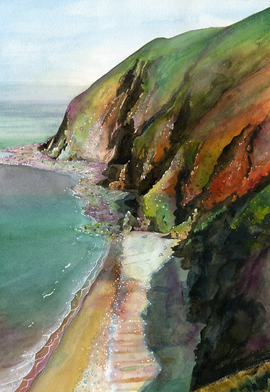 Foreland Point, Exmoor Print