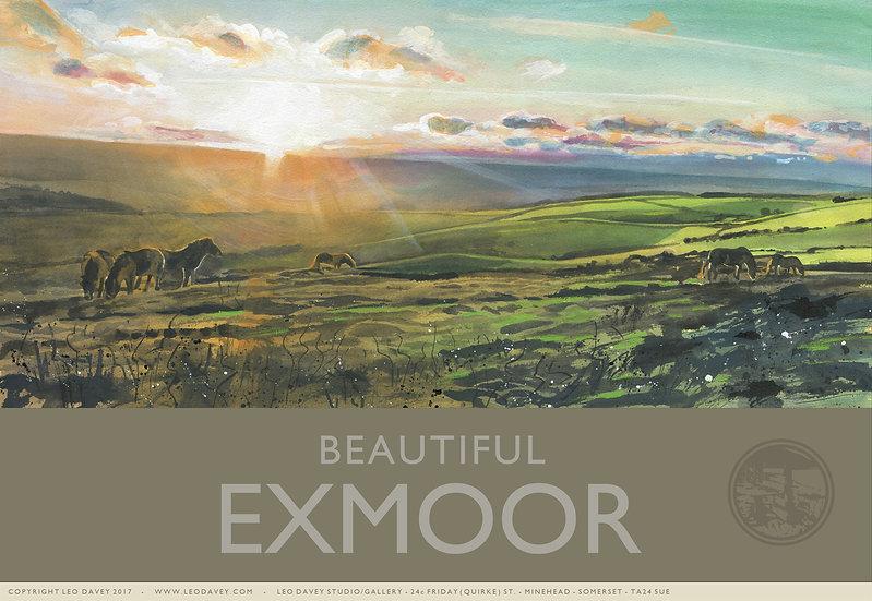 Beautiful Exmoor, Exmoor Print