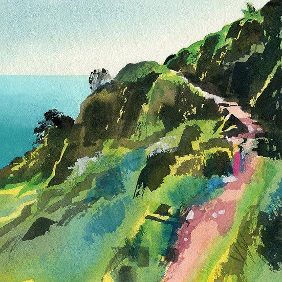 Rugged Coast Path 7, Exmoor Print