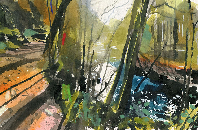 The Barle 3, Exmoor, Original Watercolour Painting