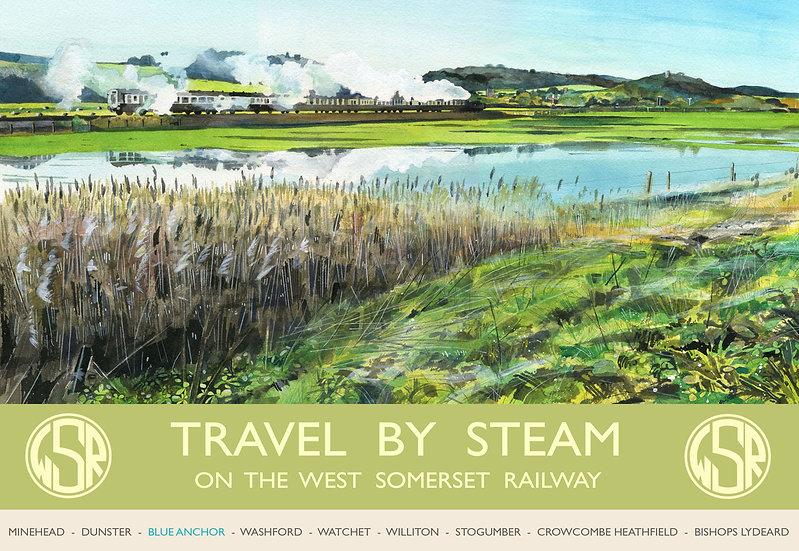 Travel By Steam 2, WSR, Somerset Print