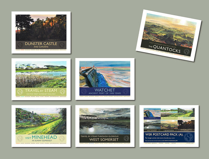 WSR Postcard Collection A. (Pack B. Also Available) NEW for 2020