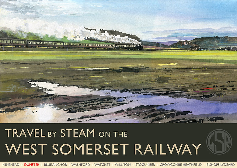 Travel By Steam 2 (9 of 12 from NEW WSR Collection) Somerset Print
