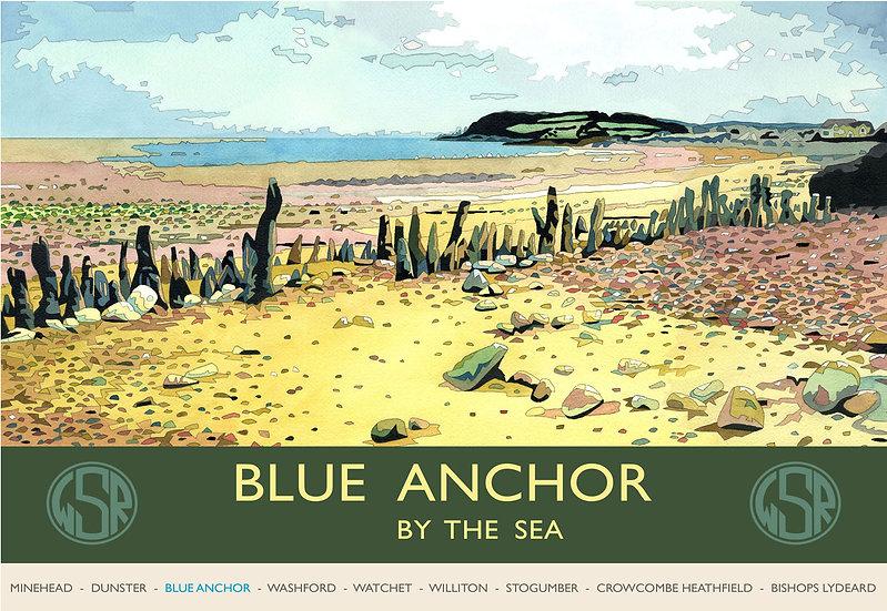 Blue Anchor, WSR, Somerset Print