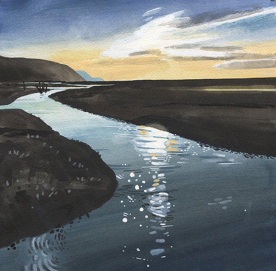 Exmoor, Porlock Marsh 2, Original Watercolour Painting