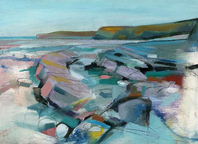 Kilve Beach 3, Original Oil Painting