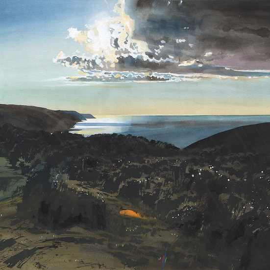 An Hour Before Sunset, End of North Hill, Exmoor Print