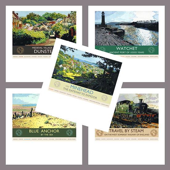 Greetings Card Pack H. West Somerset Railway