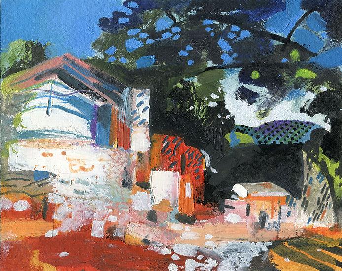 Heat, Spanish Ruin, Original Painting