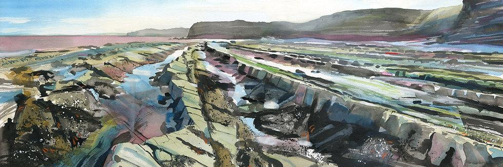 Kilve Beach 6, Somerset Print