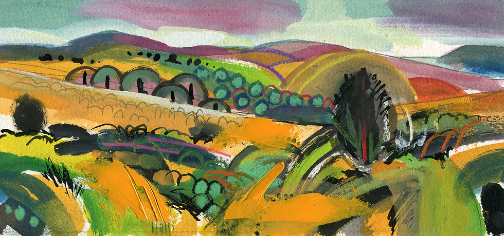 Webbers Post 2, Exmoor, Original Watercolour Painting
