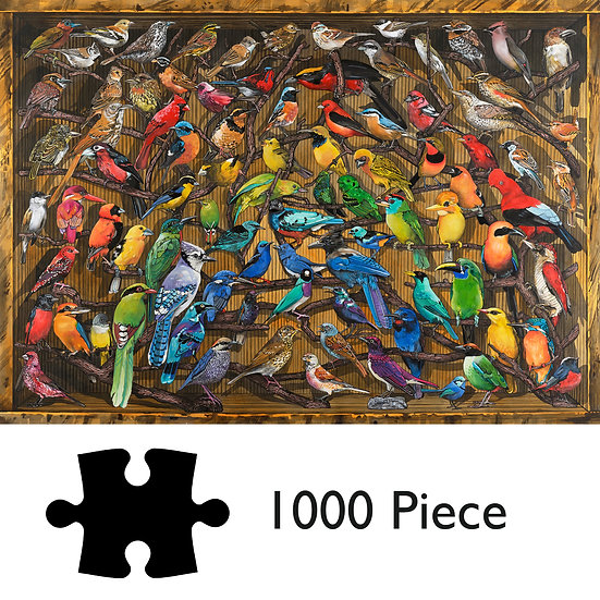 1000 Piece Jigsaw Puzzle - Way Up High - Birds of the World