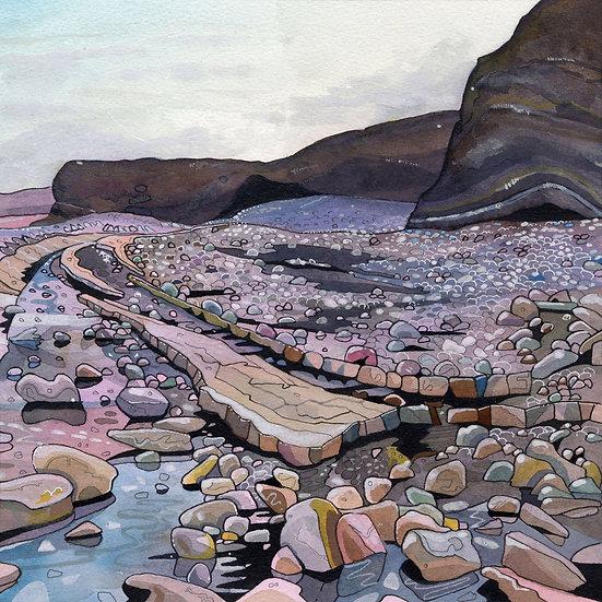 Kilve Beach 1, Somerset Print